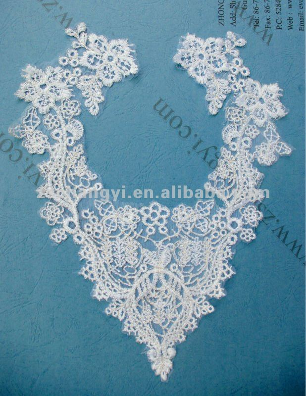Embroidery Design Lace Collar