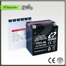 YTX7L-BS Battery/Maintenance free Dry Charge Motorcycle battery 12V9AH