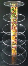 6 Tier Tubes Elegant Acrylic Cake Display Stand