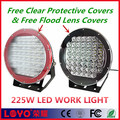 high power led worklights red/black housing 225w led work light 10'' led driving lamp for offroad
