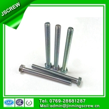 steel hexagon head machine thread screws for metal bunk beds