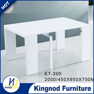 MDF extendable dining set Long Dining Room Tables