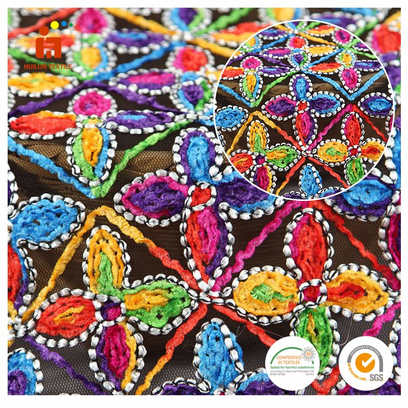 china supplier Latest design 3D handmade flower embroidery cord african latest style african dry lace