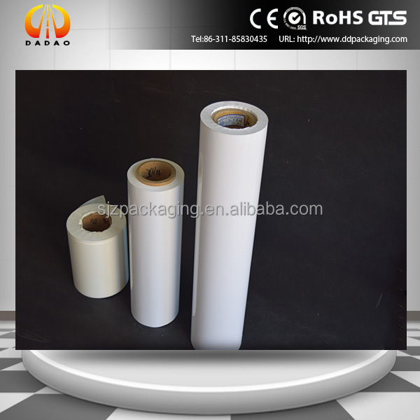 white opaque PET film with Whiteness values 115' used for attaching patches