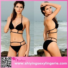 Hot Black Sexy Strappy hot sexi photo image Bikini Swimwear