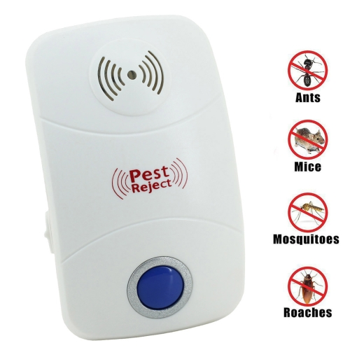 LED Light Ultrasonic Mosquito Repeller Electronic Rat Pest Control Repeller with UK Plug