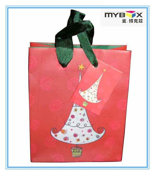 2012 Red Christmas Paper Gift Bag For Children