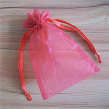 sheer organza cosmetic bag food bag necklace pouch bag
