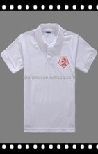 Women custom design white embroidered polo t shirt