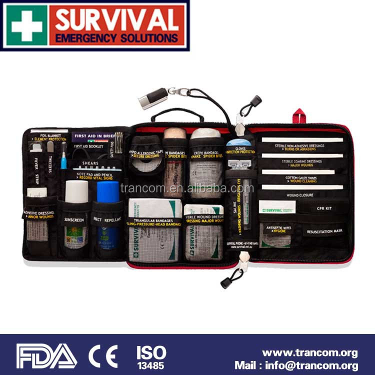 TR002 outdoor & travel first aid kit for motoring first aid kit supplies list (CE&ISO&FDA&TGA)Approved
