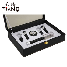 Luxury wine tool set with gift box,air pump opener set