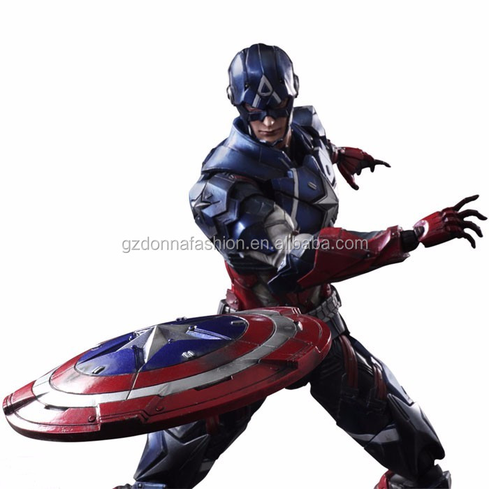 Gzdonnafashion 27 CM Hot Sale Wholesale PVC PLAY ARTS Series Moive Captain America Marvel Action Figure Toys