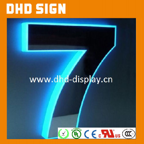 2016 Hot sale edge lit acrylic LED signs