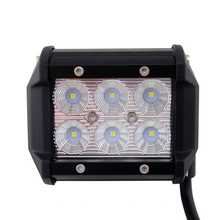 "18W 4 inch LED Work Light Bar, 4"" Flood Beam 60 degree Waterproof for Off-road Car ATV SUV Jeep Boat led work light"