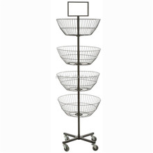 new arrival rotating metal display rack wire display stand spinner with base support