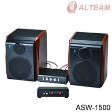 home theater wooden woofer, tweeter amplifier pa speaker box system