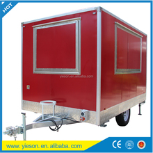 Fast Food Catering Container Mobile Food Vans With CE Certiifcation