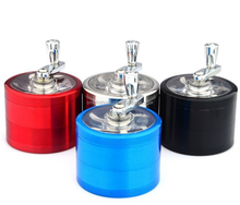 High Quality Aluminum Herb Grinder Herb Smoking Pipes Wholesale Herb with handle