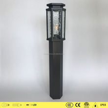 Hot selling decorative aluminum outdoor lamps 1646/1646A glass garden light