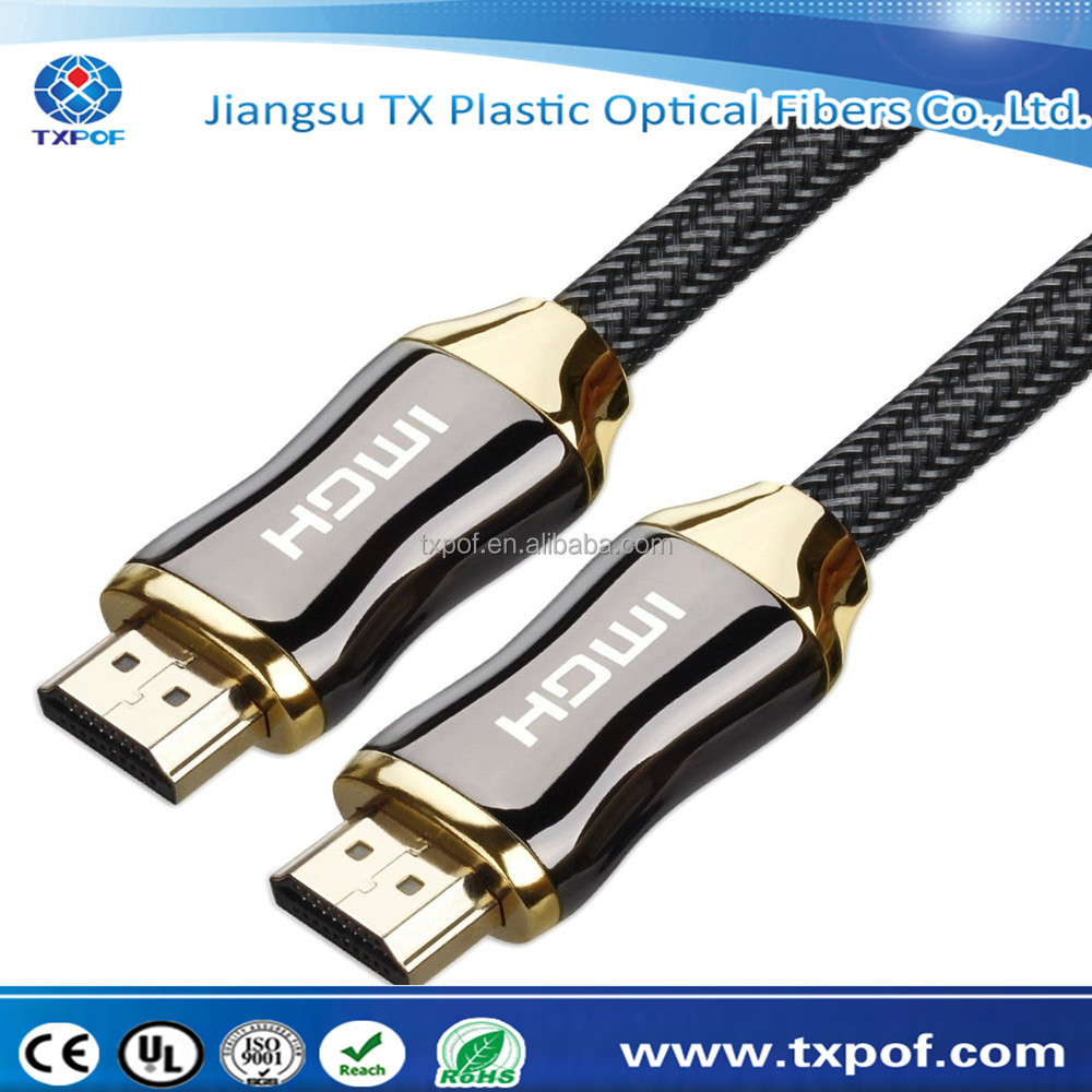 Nylon Braided High Speed 18Gbs Latest 2.0 Supports Ethernet 4K Ultra HD 3D HDR Audio Return Channel HDR HDMI cable
