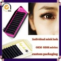 Milkyway wholesale all size J B C D curl handmade thick 100% real mink individual mink eyelash extensions