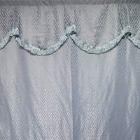 Wholesale African hotel bathroom double swag shower curtain with valance