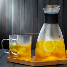 Cold heat resistant glass kettle pot of transparent filter cold water bottles cool large capacity kettle pot juice pot