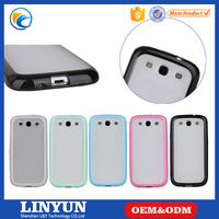 For Samsung Galaxy S3 Slim Thin Candy Transparent Clear Hybrid Matte Phone Cases For Samsung Galaxy S3 TPU+PC Hard Cover