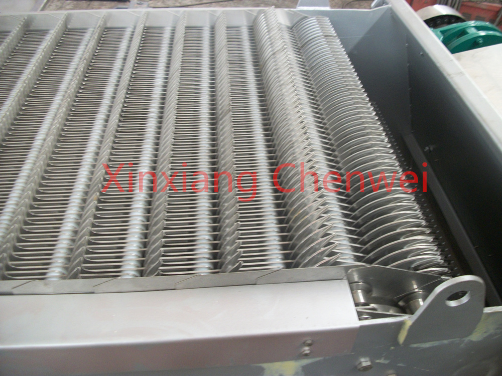 Waste water treatment/bar screen for waste water processing/bar screen