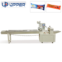 Multi-Function horizontal flow candy/ pastries /chocolate bar tray wrapping machine for food