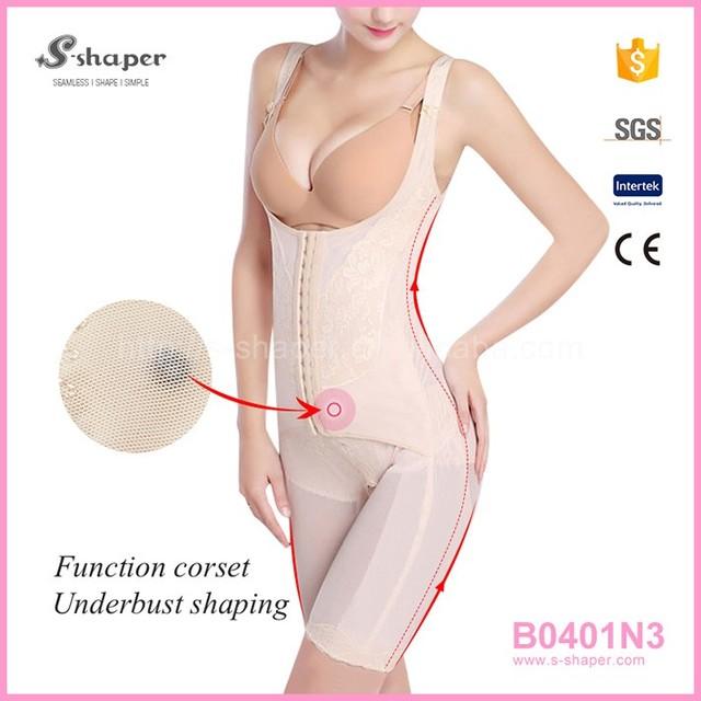 Burvogue Sexy Women Shapewear Slimming Body Shaper Black Bodysuits B0401N3