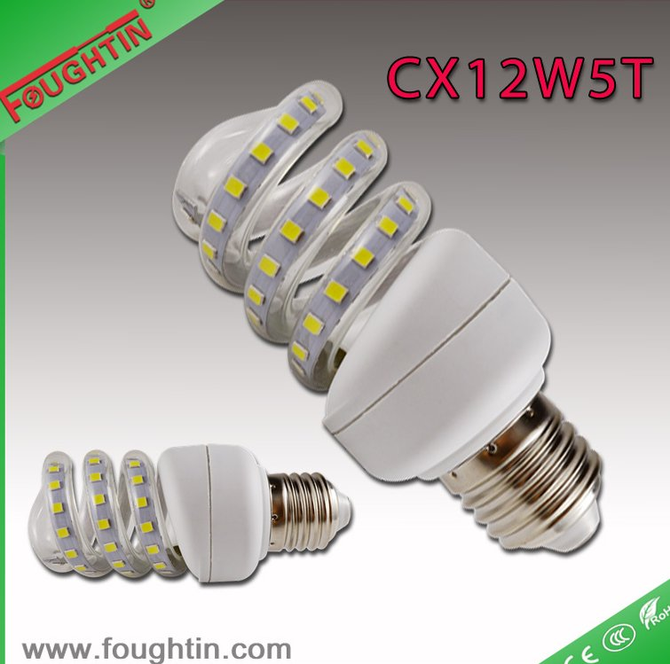 12w led energy saving bulb full sprial e27 led lamp lighting