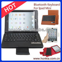 Mini Bluetooth Keyboard, Detachable Leather Case Keyobard with Lowest Fatory Price And Colorful Case