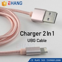 New products 2016 innovative product 2 in 1 usb cable Phone Charger Cable