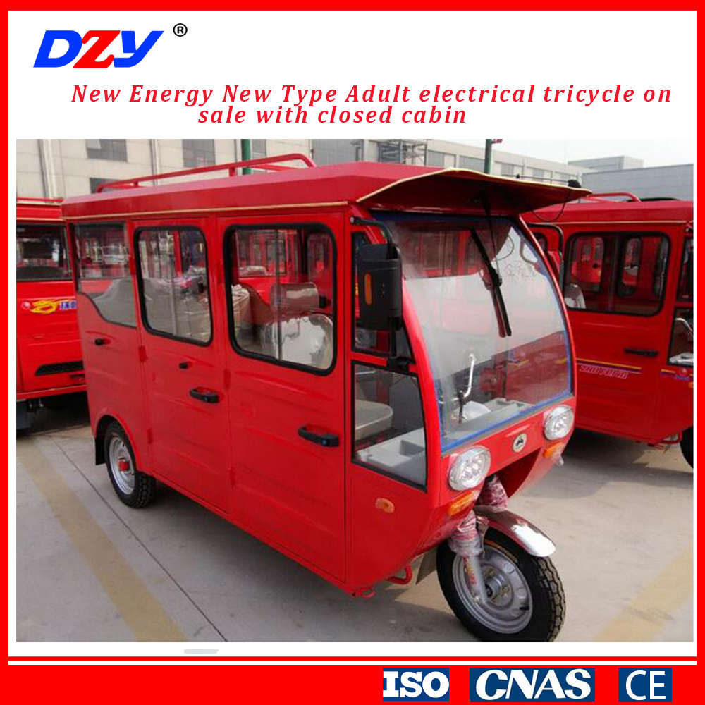High Quality Bajaj Auto Taxi Tricycle Motor Electric Tricycle For Adults