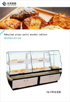 AX - Wooden Island type Refrigerating Display Cabinet for Breads in middle height with baking vanish