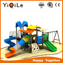 Double playground swing bridge outdoor playground animal sculpture