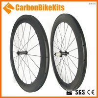 CarbonBikeKits SR60C OEM full carbon clincher wheelset depth 60mm carbon wheel with ceramic hub