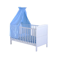 Wooden Baby Toddler Cot with Mosquito Net