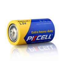 Free Sample PKCELL Dry Battery 1.5v r20 D Size UM1 Zinc Carbon Battery for Flashlight,Radio