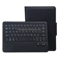 Bluetooth Keyboard Litchi Texture Leather Case with Holder for Kindle New Fire HD 6(Black)