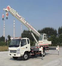 360 Angle rotation ,27M Liftin Height LUYING Brand 10 Ton Crane Truck with KAMA chassis for sale