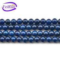 FEIRUN 6-12mm beads strands wholesale blue agate stone, druzy agate electroplated