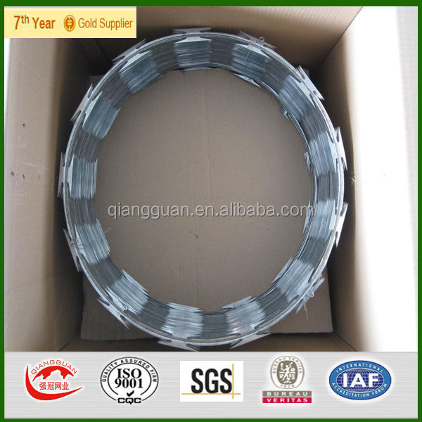 Cross Type Razor Type and Steel Wire Material razor wire concertina razor wire bto 22 bto 30 bto 65