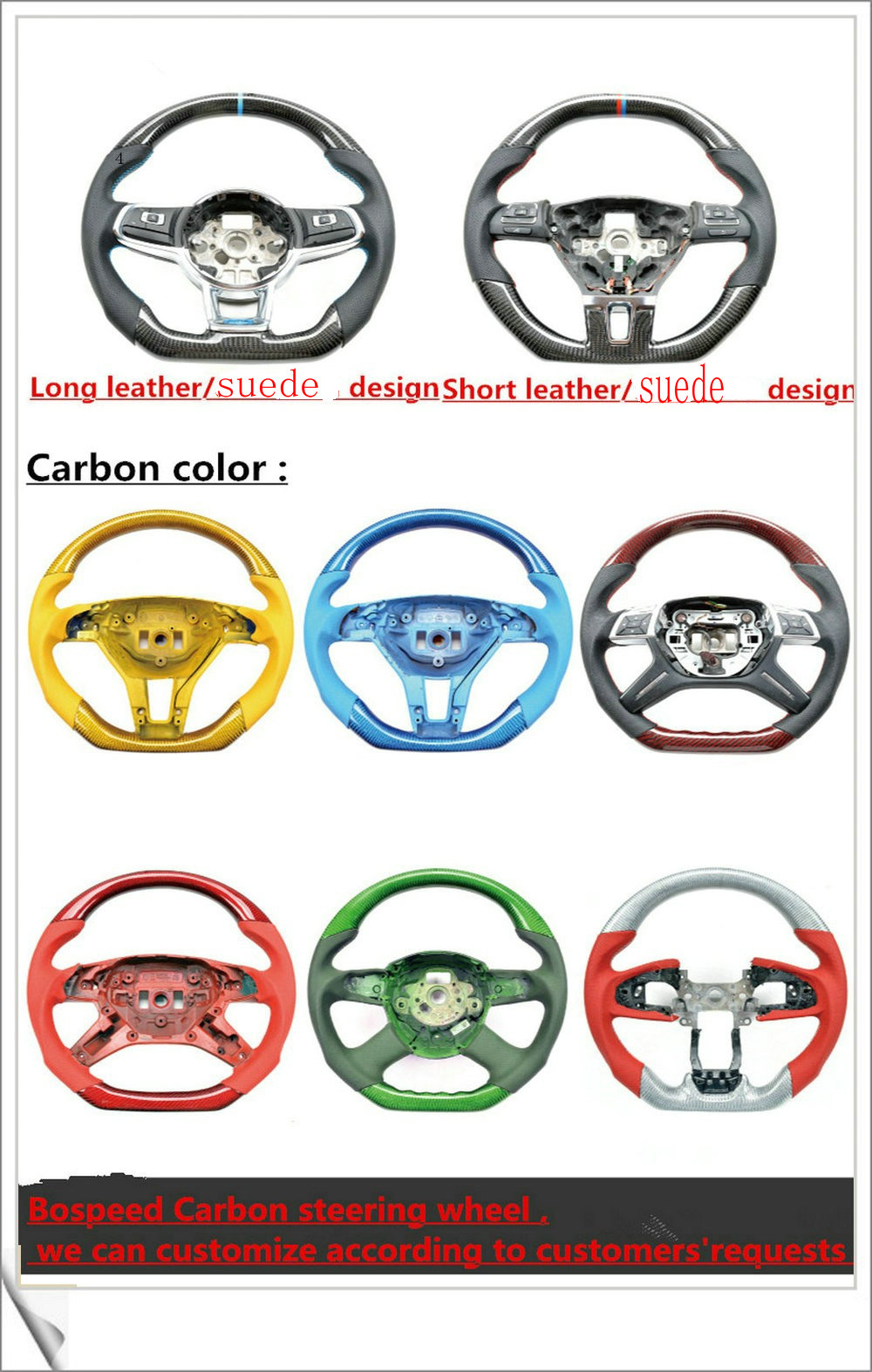 2017 most popularCarbon Fiber racing car steering wheel for VW Beetle