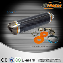 125*410mm JP motor cycle carbon fiber exhaust systerm motorcycle exhaust