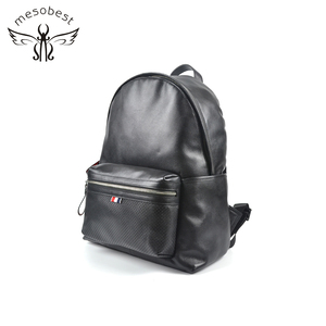 Guangzhou quality wholesale OEM backpack black travelling leather back pack bags for women