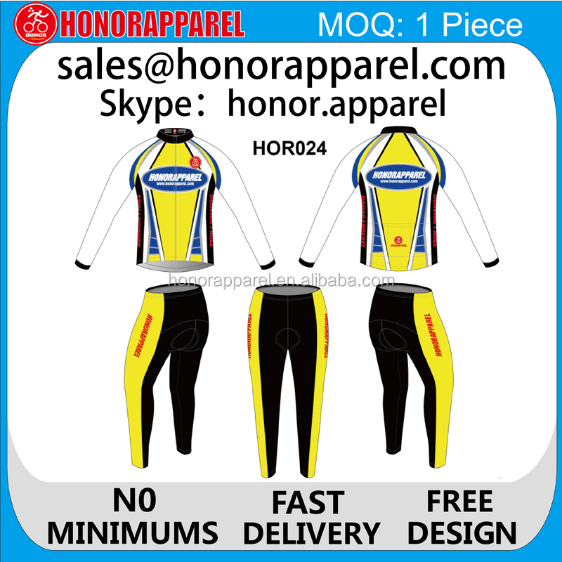 wholesale pro team cycling apparel, custom made cycling wear set cycling jerseys for men honorapparel