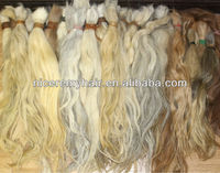supreme quality gray hair extensions