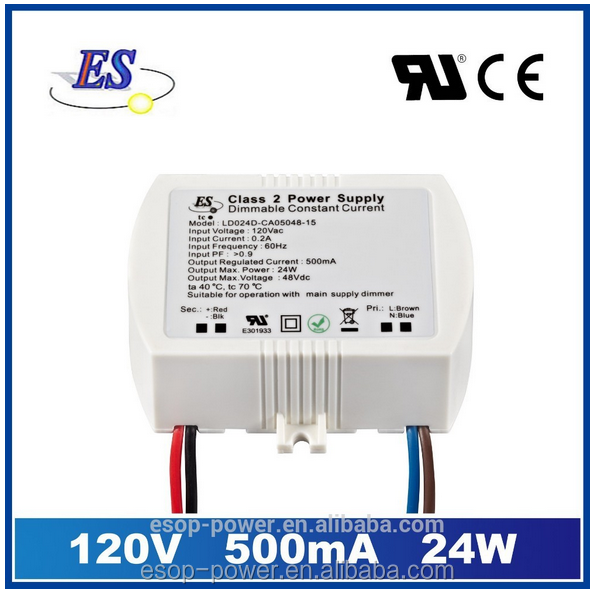 24W AC-DC Constant Current LED Driver with Triac Dimmer